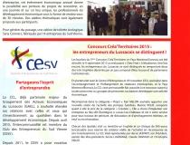 Le CESV dans la lettre de la Communauté de Communes du Lussacois