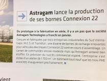 Revue Entreprises en Vienne : «Astragam lance la production de ses bornes Connexion 22»